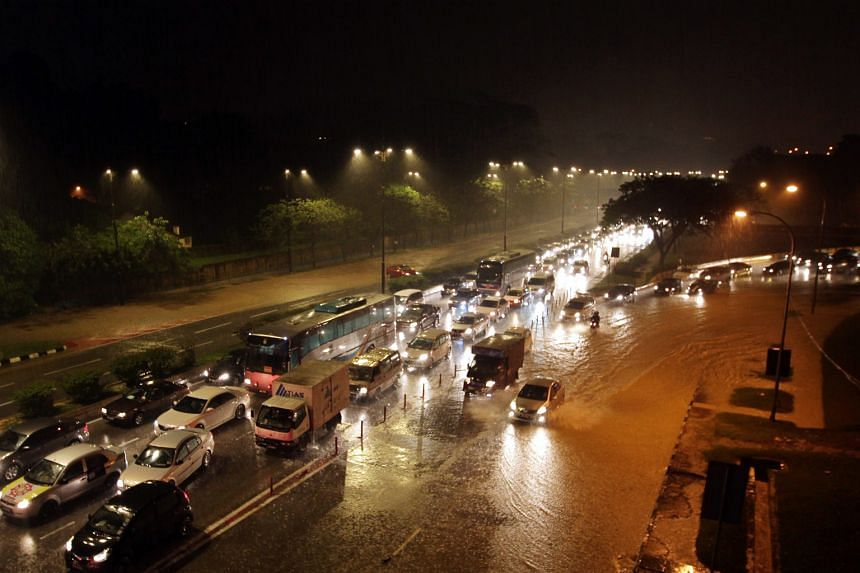 Motorists stuck in traffic after heavy rain caused flash floods in Kuala Lumpur last week. KL's mayor called for a rainwater management solution that would ensure the entire city would be able to handle similar conditions.