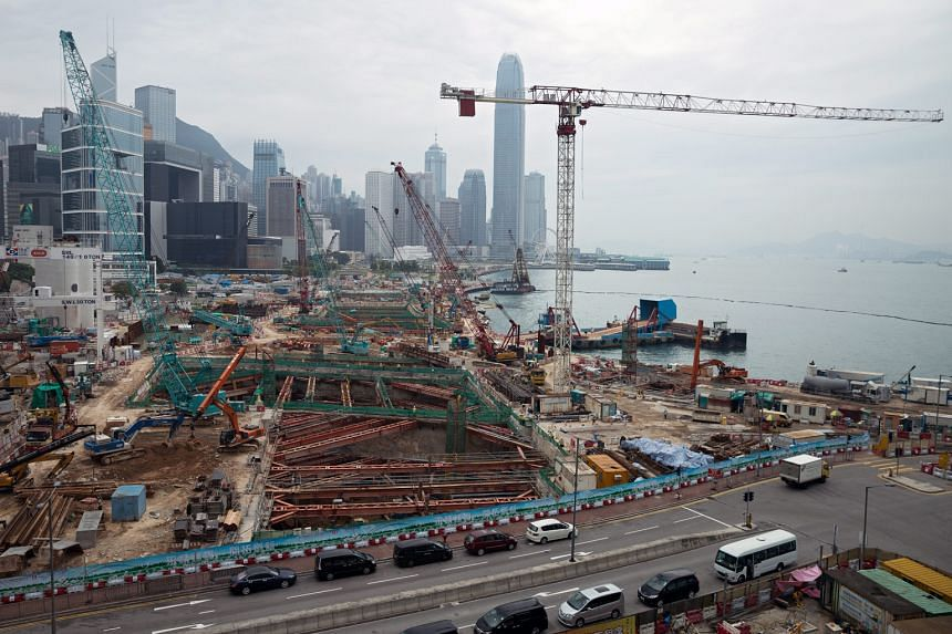 Construction works on the Shatin-Central Link site in Wan Chai and other districts have been suspended since yesterday as a security measure for the three-day visit to Hong Kong by Mr Zhang, who is the Beijing man in charge of the territory's affai