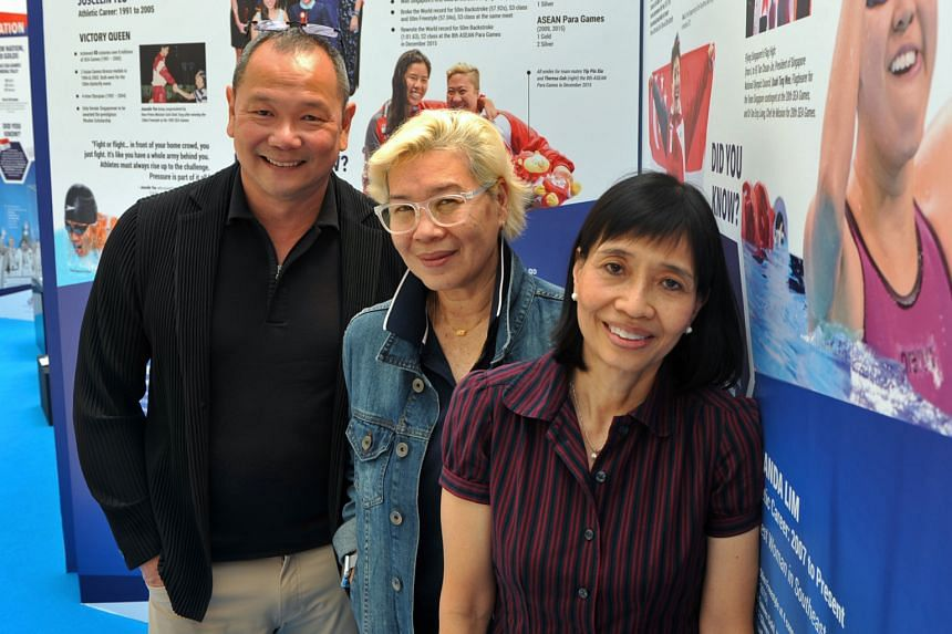 (From left) Ang Peng Siong, Patricia Chan and Tay Chin Joo are members of the Legacy Council, which was established last year and aims to highlight and showcase the aquatic fraternity's achievements.