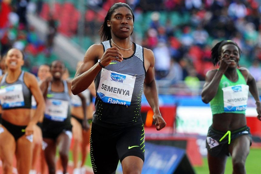 Caster Semenya's 1min 56.64sec in the women's 800m at the Diamond League meet in Rabat, Morocco on Sunday is the world's best time this year.
