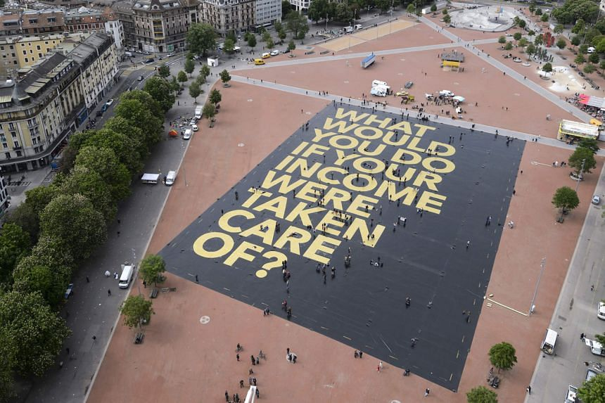 A campaign group backing the basic income plan set a Guinness world record for the world's largest poster this month.