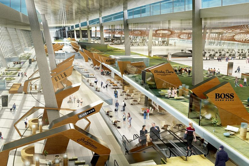 An artist's impression of the Soekarno-Hatta International Airport's Terminal 3 Ultimate. Indonesian officials hope that with its opening, Soekarno-Hatta would be able to rival Changi as well as Kuala Lumpur International Airport, and lure internatio