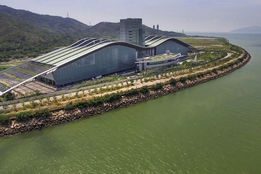 Veolia's HK$5 billion (S$887 million) T-Park waste treatment facility in Tuen Mun, in the north of Hong Kong, treats some 1,200 tonnes of sludge from the city's wastewater treatment plants to keep it from being dumped in already overfilled landfills.
