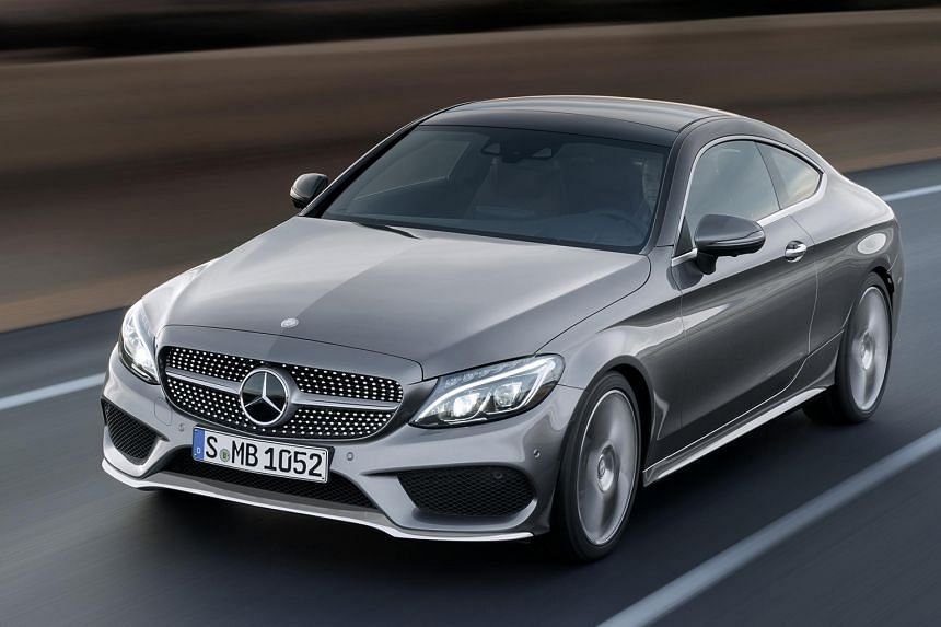 The new Mercedes-Benz C-class Coupe (above) has arrived, looking even more beautiful than its sedan sibling.