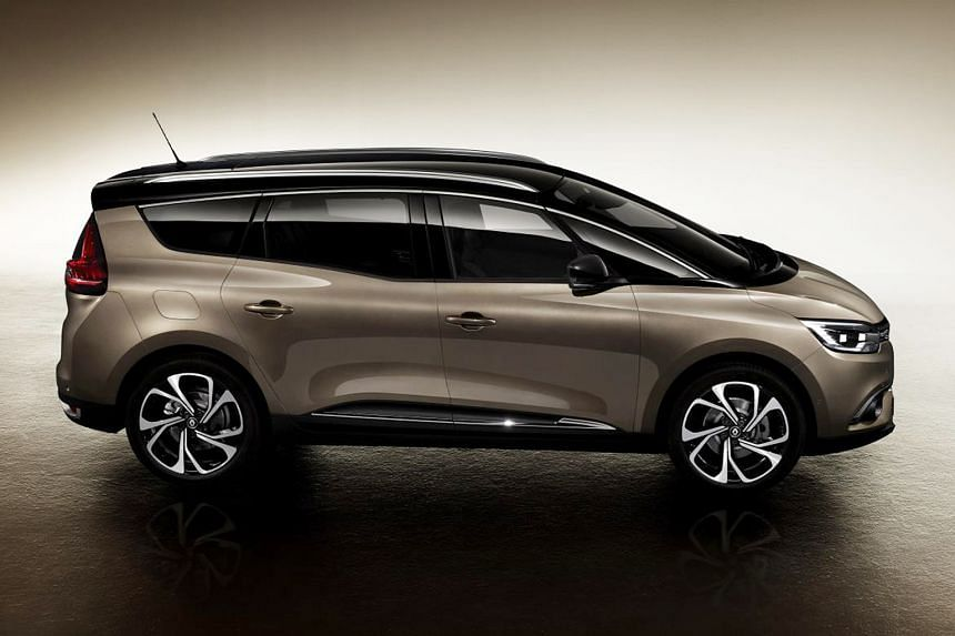 Renault's latest Grand Scenic seven-seater (above) is more sleek and roomy.