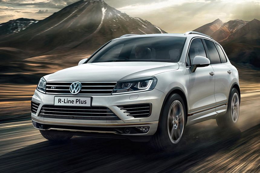 Volkswagen Touareg is now available in R-Line Plus trim (above).