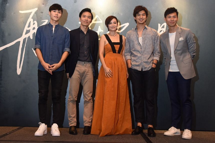 Distance's cast and crew include (above from left) Cheng Huan Lin, Tan Shijie, Yeo Yann Yann, Chen Bo-lin and Anthony Chen.