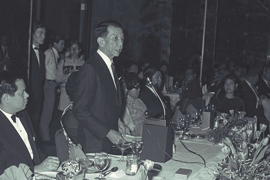 Singapore's previous minority-race presidents included Dr Benjamin Sheares (above) and Mr Devan Nair. Mr Nair is seen here with then Major-General Winston Choo behind him, inspecting the Guard of Honour during a National Day Parade.