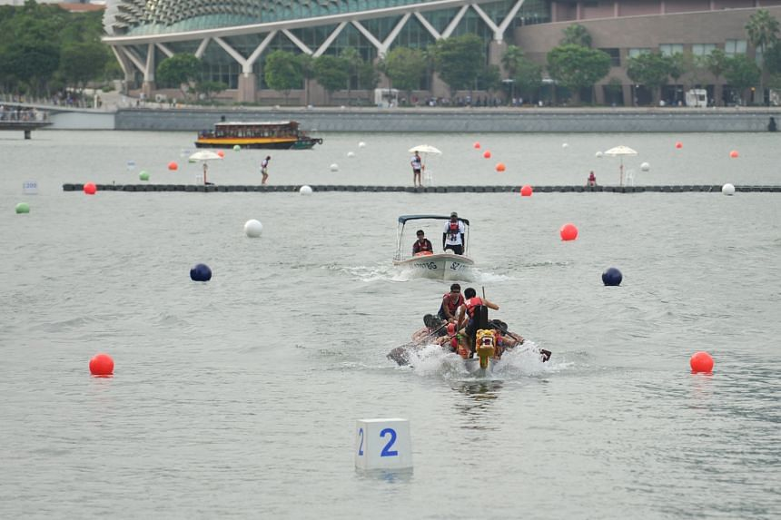 The fifth annual DBS Marina Regatta kicked off yesterday, with dragonboat rowers competing in the 200m corporate, premier, tertiary and open categories at Marina Bay. Themed races were introduced for the first time, with Singapore Sailing emerging vi