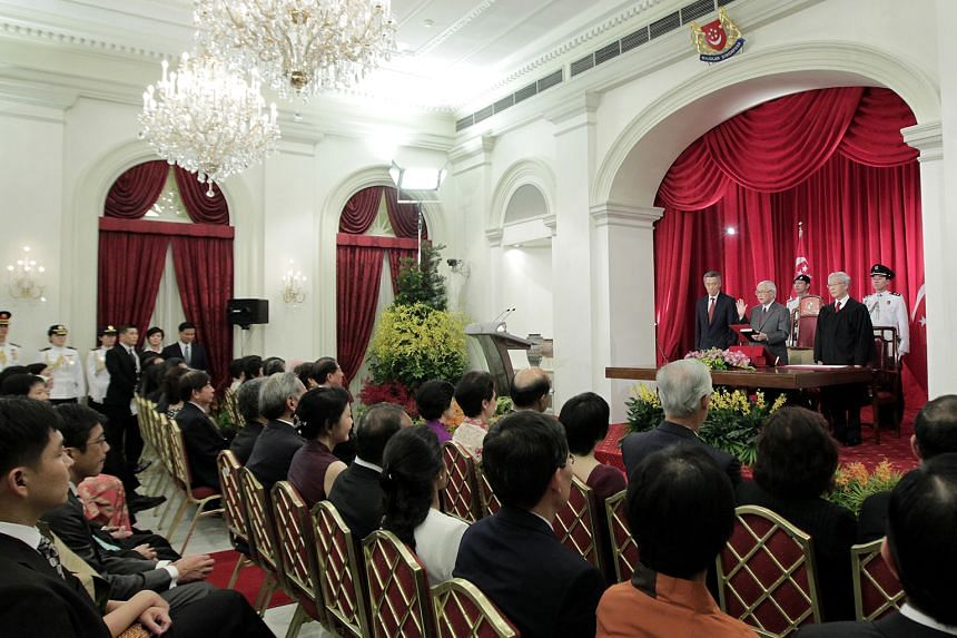 The swearing-in ceremony for Singapore's seventh President and third elected President, Dr Tony Tan Keng Yam, in the State Room of the Istana on Sept, 1, 2011. Among the suggestions floated at the public hearings held by the Constitutional Commission