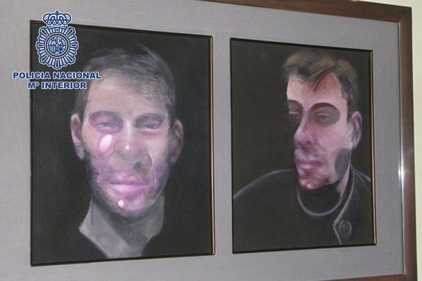The Spanish National Police last Saturday released a photo of one of five artworks by Francis Bacon stolen last year.