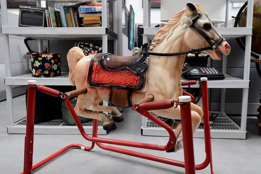 The rocking horse belonging to Joan Harris' son among items from the American drama series Mad Men to go on auction.