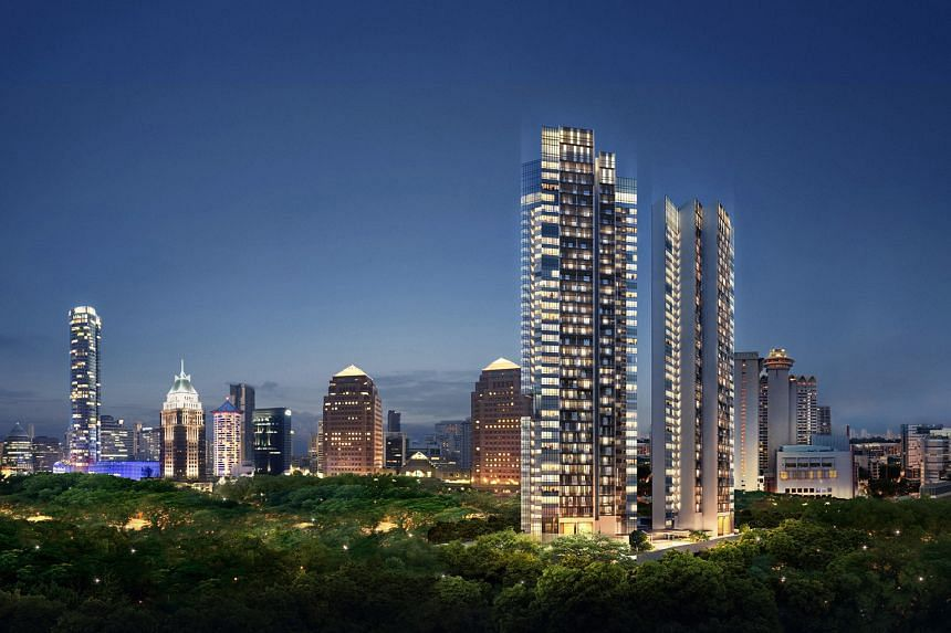 Sales have been reasonably strong at recently completed projects OUE Twin Peaks (left) and Ardmore Three, although they are not in the basket of 574 private residential projects tracked by the SRPI.