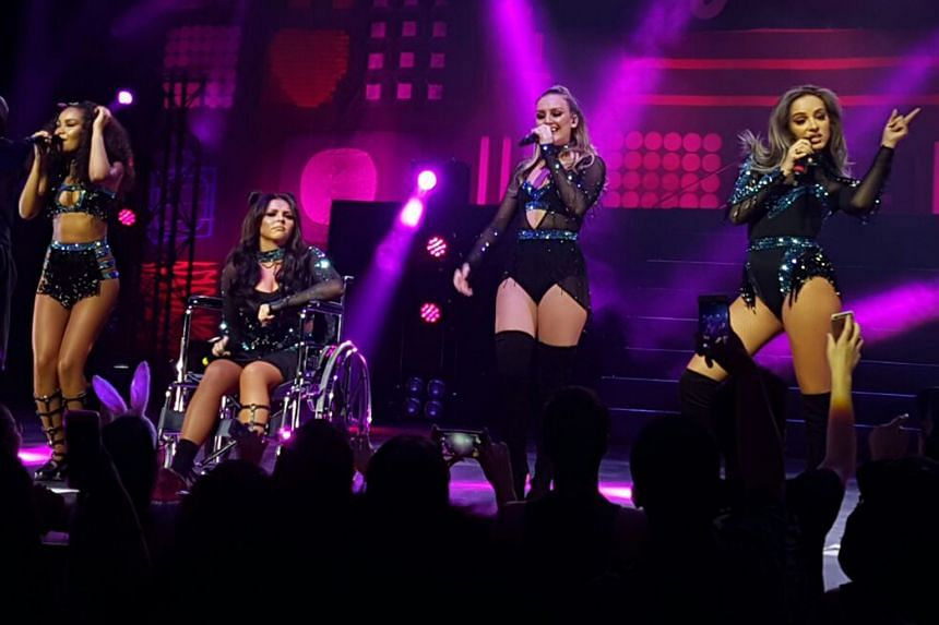 Little Mix, comprising (above from left) Leigh-Anne Pinnock, Jesy Nelson, Perrie Edwards and Jade Thirlwall, at the Star Theatre.