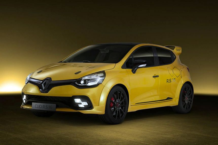 The Renault Clio RS16 (above) is the highest-performance Renault road-going vehicle ever.