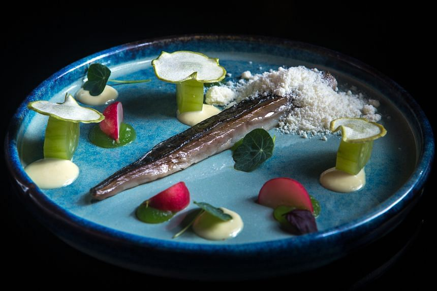 Salted & Hung: mackerel, gin and cucumber ($16).