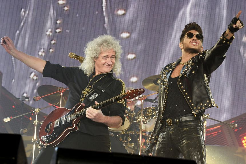 US singer Adam Lambert (right) of the band Queen + Adam Lambert with British guitarist Brian May (left) performing at a concert in Zurich last year.