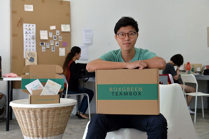 Mr Walter Oh, co-founder of social enterprise Boxgreen, which sells healthy snacks and donates a meal equivalent to soup kitchen Willing Hearts for every box of snack packs delivered.