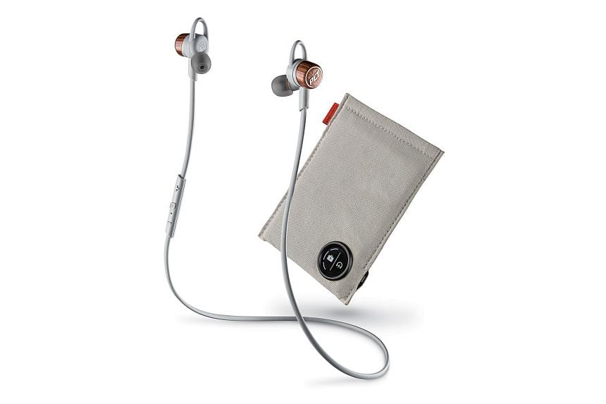 The Plantronics BackBeat GO 3 wireless earphone set comes with an option for a carrying case that doubles as a portable charger.