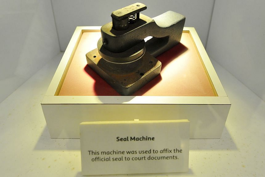 Visitors will get to see (clockwise from above) the main atrium in the Supreme Court, Heritage Gallery with artefacts such as the seal machine and viewing gallery.