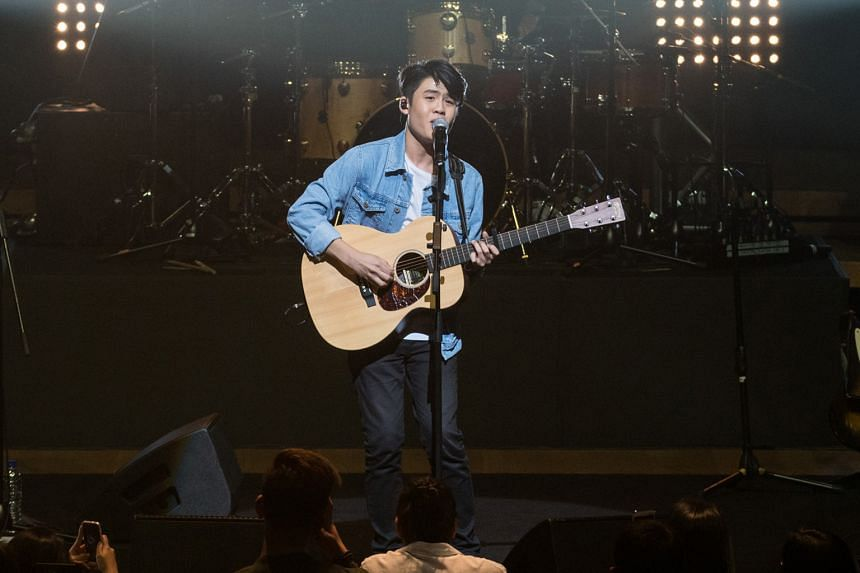 Gentle Bones' (above) concert at the Esplanade Concert Hall was a sold-out affair.