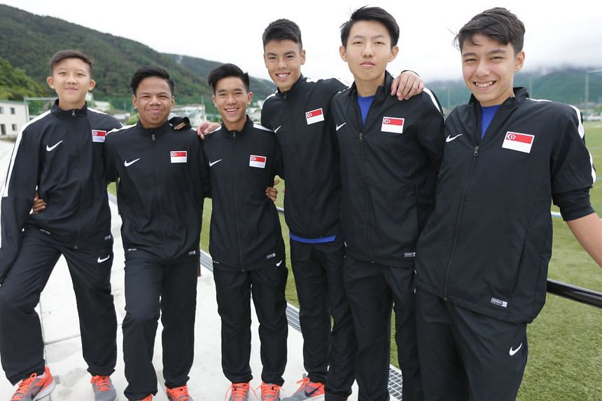 (From left) Teenagers Elijah Lim, Muhammad Nur Adam Abdullah, Marc Ryan Tan, Vasileios Chua, Ashley Yong and Christian Chiang are in Japan on a week-long training attachment. It is the second stint for Elijah and Adam.