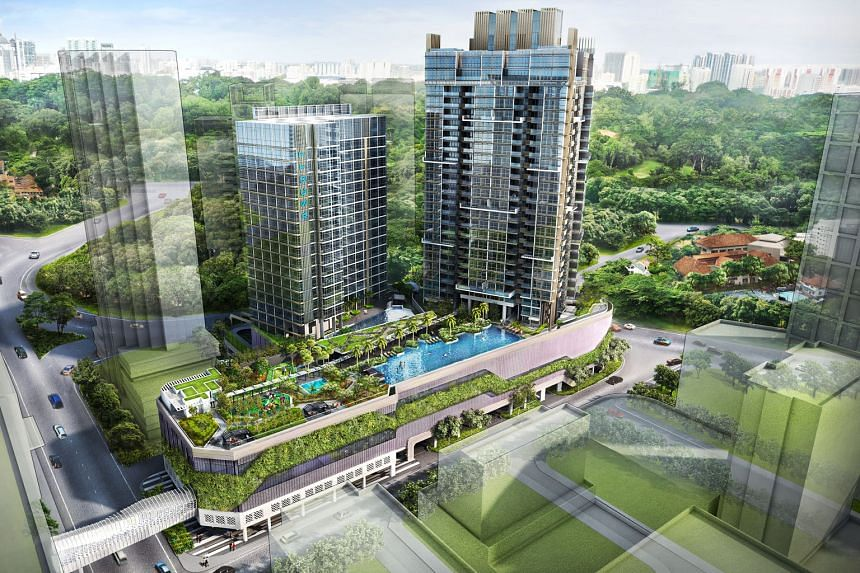 An artist's impression of Cairnhill Nine and Ascott Orchard Singapore in CapitaLand's integrated development in the Orchard area, which will be completed by the end of this year. Cairnhill Nine is one of the developments favoured by foreigners.