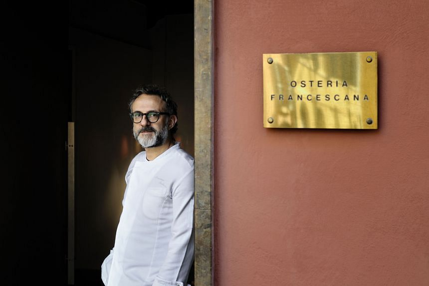 While chef Massimo Bottura (left) celebrates Osteria Francescana topping the World's 50 Best Restaurants list, top French chefs such as Joel Robuchon (above) have been left out.