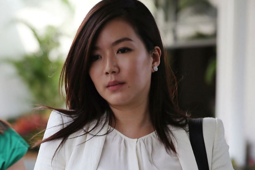 Actress Rui En is accused of failing to have proper control of her black BMW (left) when driving into a Clementi carpark on April 12 and crashing into a parked motorcycle.