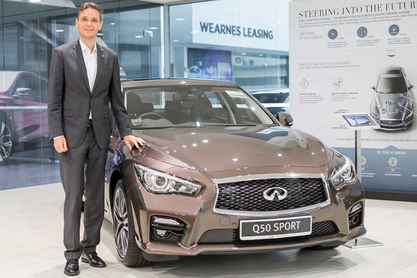 Mr Roland Krueger wants to take the Infiniti Q50 on his next extreme adventure.