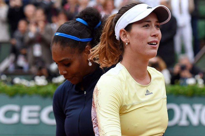 Contrasting moods as Serena Williams and Garbine Muguruza left the court after the French Open final on June 4, when the Spaniard beat the American for her first Grand Slam tennis title.