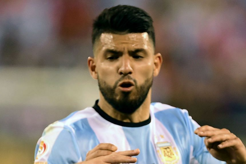 Argentina's strikers Sergio Aguero (top) and Gonzalo Higuain may follow Lionel Messi in ceasing to play for their country.