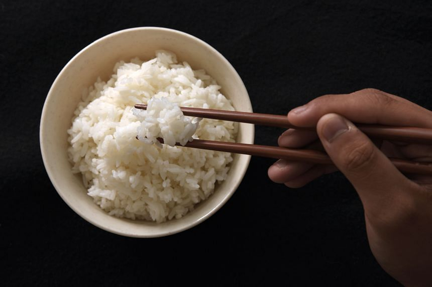 White rice (above) or polished rice is milled to remove the hull, bran and germ. Glutinous rice is extremely sticky when cooked.