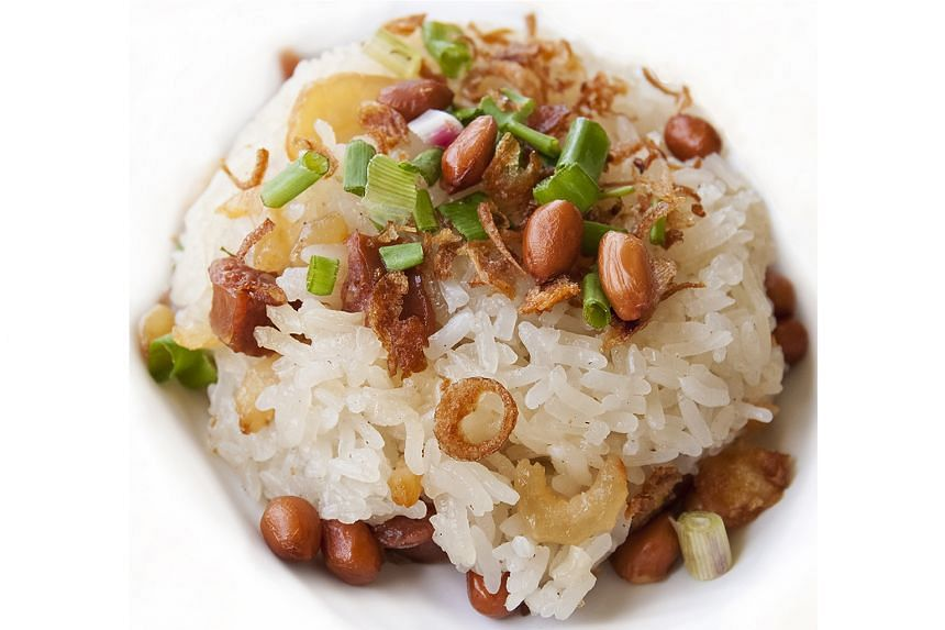 Glutinous rice is extremely sticky when cooked.