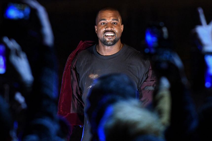 Famous, a video by rapper Kanye West (left), depicts a row of nude celebrities, including singer Taylor Swift and presidential candidate Donald Trump.