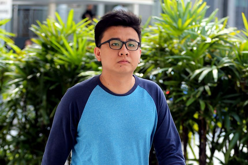 The Real Singapore co-founder Yang Kaiheng arriving at the State Courts yesterday morning to serve his sentence. He was given eight months for sedition.