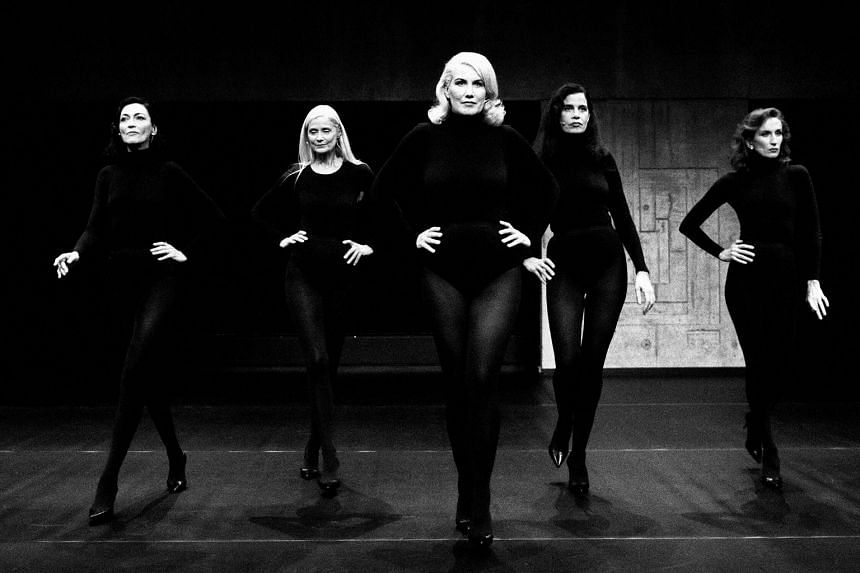 From far left, former models Anne Rohart, Axelle Doue, Christine Bergstrom, Claudia Huidobro and Violeta Sanchez in Models Never Talk.
