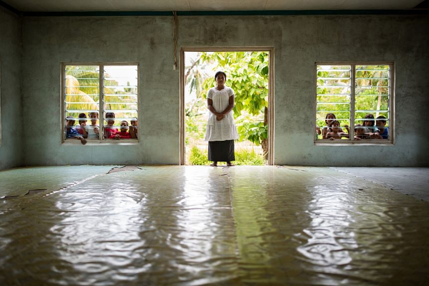 Pastor Tean Rube of the Kiribati Uniting Church, whose meeting space was flooded during last year's king tide.