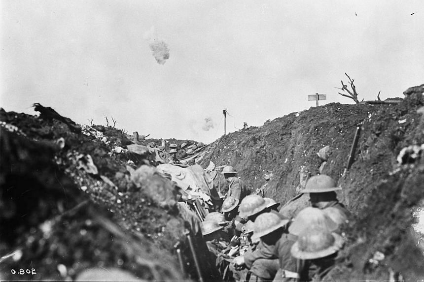 Reaching the front shortly after the Battle of the Somme began, Tolkien served for four months as a battalion signals officer. About 1.5 million soldiers died or were wounded in the offensive.