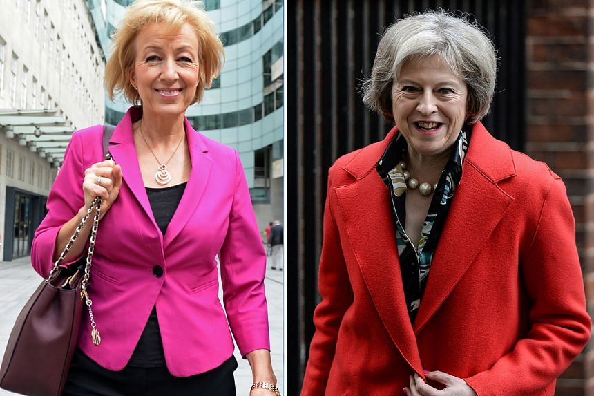 Mrs Leadsom (far left) and Mrs May are battling it out to replace Mr Cameron as Britain's PM.