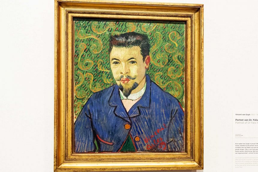 The portrait of Dr Felix Rey was painted by Vincent van Gogh in 1889 and given to the doctor as thanks for his care after the artist cut off his ear.