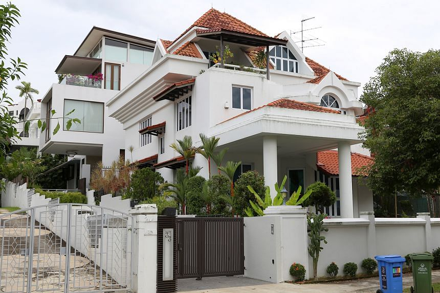 "Mr Ng's house (front) and the house of his neighbour, Mr Munib (rear). The judge decided that the Court of Appeal should review the criteria defining ""ultra-hazardous activity"" where the duty of care owed cannot be delegated to the contractor."
