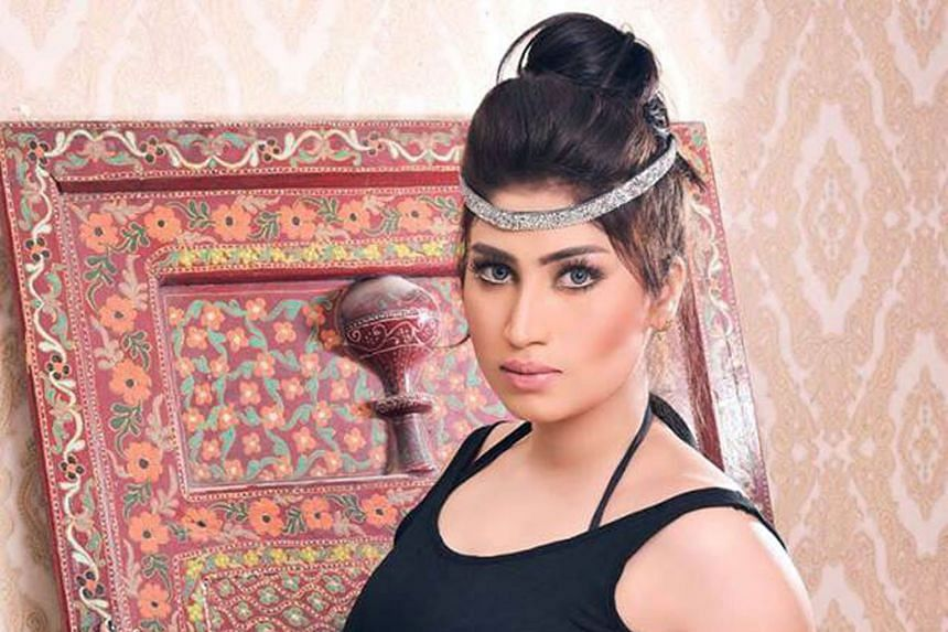 """Ms Baloch, dubbed Pakistan's """"Kim Kardashian"""", was strangled on Friday night by her brother Waseem, who has since fled."""