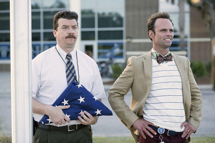 Danny McBride (left) and Walton Goggins star in Vice Principals.