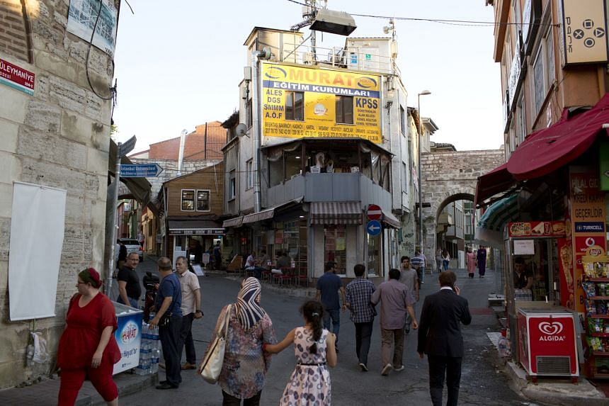 Street scene in Istanbul. In recent years, the Turkish government has built an image of Istanbul as an urban wonderland of fascinating history, great architecture and cuisine, and tourism boomed.