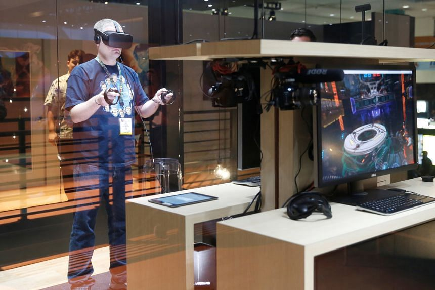 Reality-bending technologies are now a part of everyday life for many: an Oculus Rift VR headset (above) driving a frisbee video game at a Los Angeles electronics expo; GEMS World Academy (Singapore) students taking a virtual field trip with the Goog