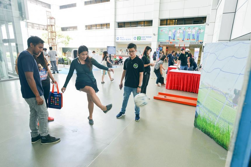 """With this year's OCBC Cycle 2016 set to take place on Oct 1-2, participants were treated to the """"Cycle for Health. Cycle for Life"""" carnival at the National University Hospital yesterday to help them better understand the nation's biggest cycling even"""