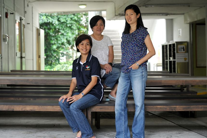 From left: Lim Sook Wei, 45, Esther Tan, 40, and Valerie Chew, 43. The trio have helped to organise the inaugural sports day for Pathlight School students with Autism Spectrum Disorder (ASD).