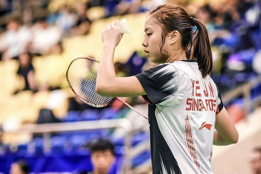 Yeo Jia Min on her way to winning the Vietnam Grand Prix title yesterday, beating Japan's Mine Ayumi 21-14, 21-17. She strategised correctly, taking control in attack after assessing that her opponent preferred long rallies. The Grand Prix is two lev