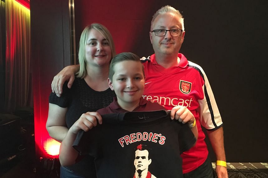 Left: Freddie Ljungberg promoting next year's Arsenal in Sydney tour. Below: Alison Edmonds and husband Chris, with their son Freddie, who was born in 2004 and named after Ljungberg. That was the season in which the Invincibles won the Premier League